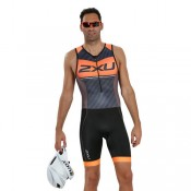 Site 2XU Body Triathlon Perform Pro Noir-Orange
