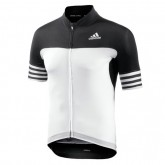 Adidas Maillot Manches Courtes Adistar Blanc-Noir Remise Nice
