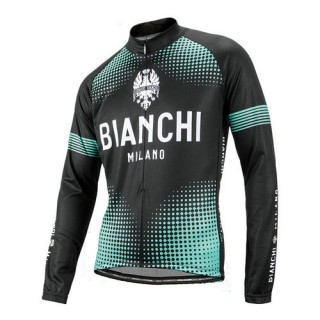 2018 Nouvelle Bianchi Milano Maillot Manches Longues Fundes