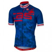 Castelli Maillot Manches Courtes Attacco Soldes Marseille