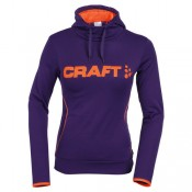 Craft Hoody Femme Logo Lilas-Orange Magasin Lyon