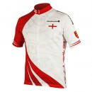 Achat de Endura Maillot Manches Courtes Angleterre Blanc-Rouge