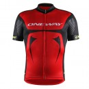 One Way Sport Maillot Manches Courtes Rd Team Rouge-Noir Site Officiel