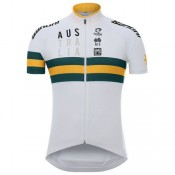 Santini Maillot Manches Courtes Cycling Australia 2017 Soldes Nice