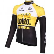 Santini Maillot Manches Longues Lotto Nl-Jumbo 2015 Magasin Paris