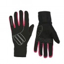 Promotions Sportful Gants Hiver Femme Essential Noirs-Rose Fuchsia