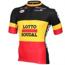 Soldes Vermarc Maillot Manches Courtes Lotto Soudal Champion Belge 2015