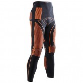 Authentique X-Bionic Caleçon Long Energy Accumulator Noir-Orange