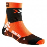 En ligne X-Socks Cycling Socks Orange-Black Compression Orange-Noires