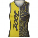 Zoot Débardeur Triathlon Performance Team Pewter-Jaune Promo prix