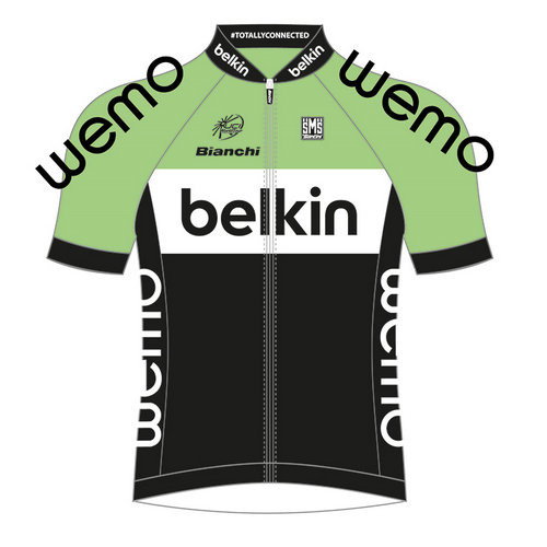 Santini Maillot Manches Courtes Belkin Pro Cycling Tdf Edition 2014