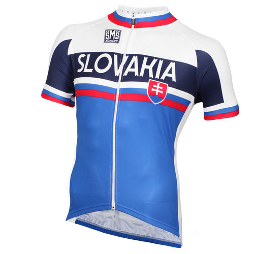 Santini Maillot Manches Courtes Slovakia National Team