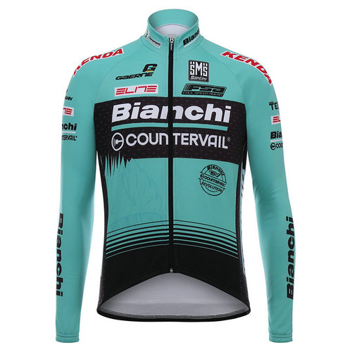 Santini Maillot Manches Longues Bianchi Countervail 2017