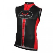 Paris Bobteam Maillot Sans Manches Noir-Rouge