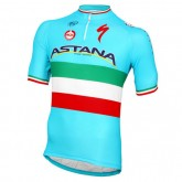 Moa Maillot Manches Courtes Astana Pro Team Champion Italien Pas Cher Nice