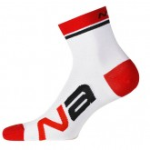 Nalini Chaussettes Logo Blanches-Rouges Vendre Cannes