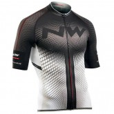 Northwave Maillot Manches Courtes Extreme Blanc-Noir Soldes Provence