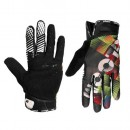Qloom Gants Doigts Longs Sorento Noirs-Lime Soldes Marseille