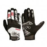 Collection Roeckl Gants Doigts Longs Minden Noirs-Rouges Soldes