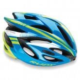 Rudy Project Casque Rush 2017 Azur-Lime Fluo Shiny Site Officiel