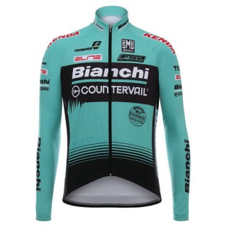 Santini Maillot Manches Longues Bianchi Countervail 2017 Rabais