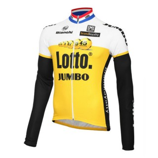 Santini Maillot Manches Longues Lotto Nl-Jumbo 2016 Soldes Marseille