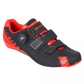 La Boutique Officielle Scott Chaussures Route Road Premium 2017 Noires-Rouge