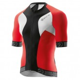 Skins Maillot Manches Courtes Tremola Due Rouge-Noir-Blanc Soldes Nice