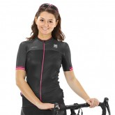 Sportful Maillot Femme Bodyfit Pro Noir-Rose Fuchsia Site Officiel